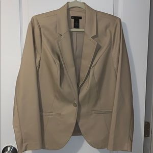 Lane Bryant cream blazer